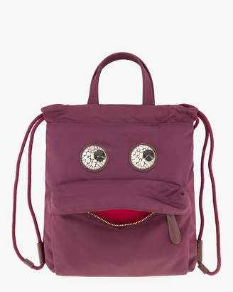 Anya Hindmarch Mini Crystal-Eyes Drawstring Backpack