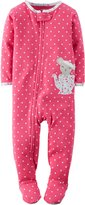 "Carter's Baby Girls' ""Tea Party"" Footed Pajamas"