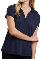 Three Dots Women's Cap Sleeve Polo