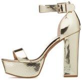 Charlotte Russe Metallic Platform Two-Piece Sandals