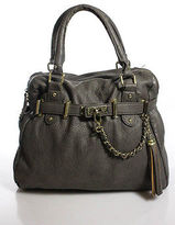 Steve Madden Gray Leather Satchel Handbag