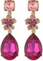 Oscar de la Renta Flower Drop Pave P Earrings Earring