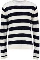 American Vintage Ragony Jumper Ecru Striped Navy