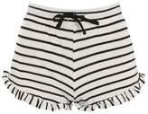 Topshop Frill striped runner shorts