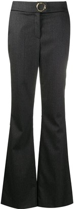 Class Roberto Cavalli Metal-Embellished Flared Trousers