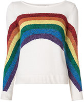 Marc Jacobs Rainbow knitted top - women - Cotton/Polyester/Metallic Fibre - XS