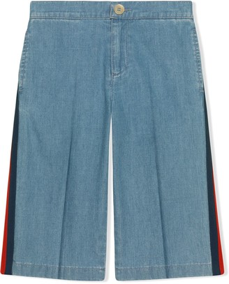 Gucci Kids Children's denim pant with Web