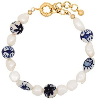 Brinker & Eliza Aurora gold-plated pearl anklet
