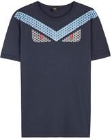 Fendi Navy Monster-print Cotton T-shirt