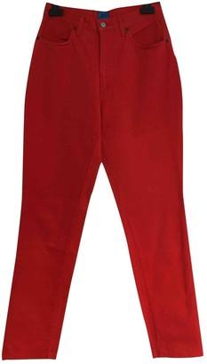 Christian Lacroix Red Cotton Jeans for Women Vintage