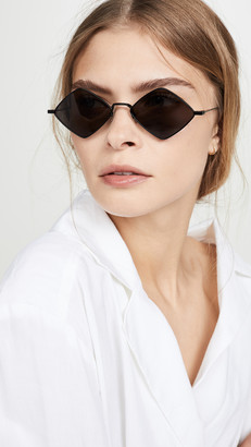 Saint Laurent Lisa Metal Cat Eye Sunglasses