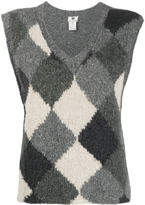 Dries Van Noten Pre Owned 1990's diamond knit sleeveless jumper