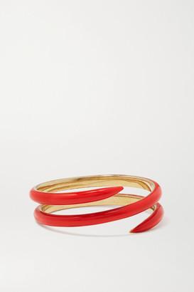 Alison Lou Coil 14-karat Gold And Enamel Ring - 6