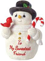 "Precious Moments To My Sweetest Friend"" Snowman Christmas Figurine"