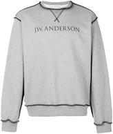 J.W.Anderson logo print sweatshirt - men - Cotton - XS
