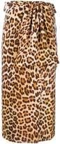 Simonetta Ravizza leopard-print wrap midi skirt