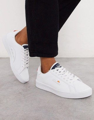 Ellesse Campo plimsoll trainers in white
