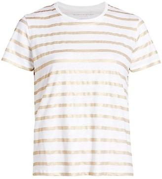 Majestic Filatures Cons Metallic Striped T-Shirt