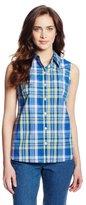 Dickies Women's Sleeveless Poplin Plaid Shirt