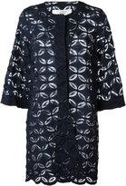 D-Exterior D.Exterior - floral lace panel jacket - women - Cotton/Polyamide/Viscose - 44