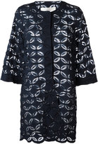 D-Exterior D.Exterior - floral lace panel jacket - women - Cotton/Polyamide/Viscose - 48