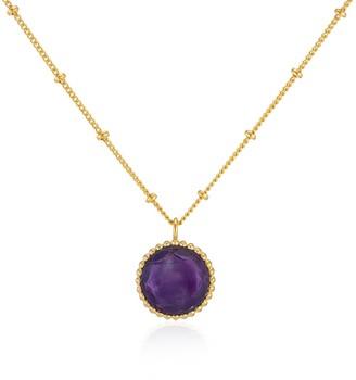 Auree Jewellery Barcelona February Birthstone Necklace Amethyst