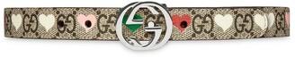 Gucci Kids GG Supreme heart belt