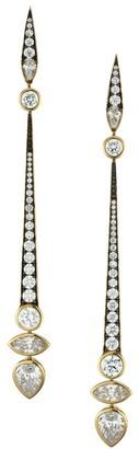 Adriana Orsini Two-Tone & Cubic Zirconia Linear Drop Earrings