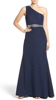 Eliza J Embellished Knit Gown