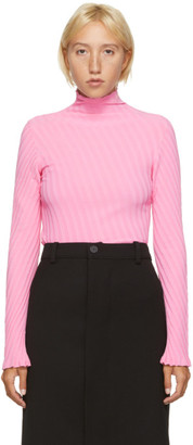 Balenciaga Pink Pleated Turtleneck