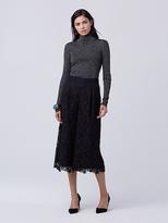 Diane von Furstenberg Tess Metallic Knit Turtleneck Sweater