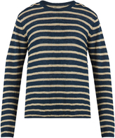 Oliver Spencer Seymour striped linen and cotton-blend sweater