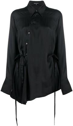 Ann Demeulemeester Asymmetric Tie-Side Satin Shirt