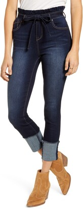 1822 Denim Paperbag Waist Skinny Crop Jeans