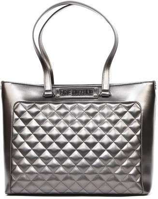Love Moschino Metal Quilted Faux Leather Bag