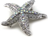 Starfish Charm Pin Brooch Wedding Bridesmaid Fashion Jewelry Necklace Pendant Compatible