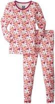 Kickee Pants Print Pajama Set (Toddler/Kid) - Apple Blossom - 6 Years