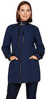 As Is SA by Seth Aaron Quilted Coat w/ Faux Leather Detail