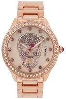 Betsey Johnson Blushing Pink Skull Watch