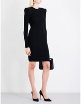 Thierry Mugler Ribbed fitted stretch-knit mini dress