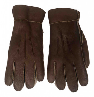 Shearling Brown Leather Gloves