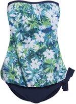 Hot From Hollywood Women's Strapless Blouson Tankini Swimsuit