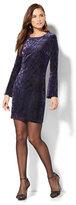 New York & Co. Velvet Burnout Jacquard Dress