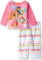 Nickelodeon Girls' Paw Patrol 2-Piece Fleece Pajama Set