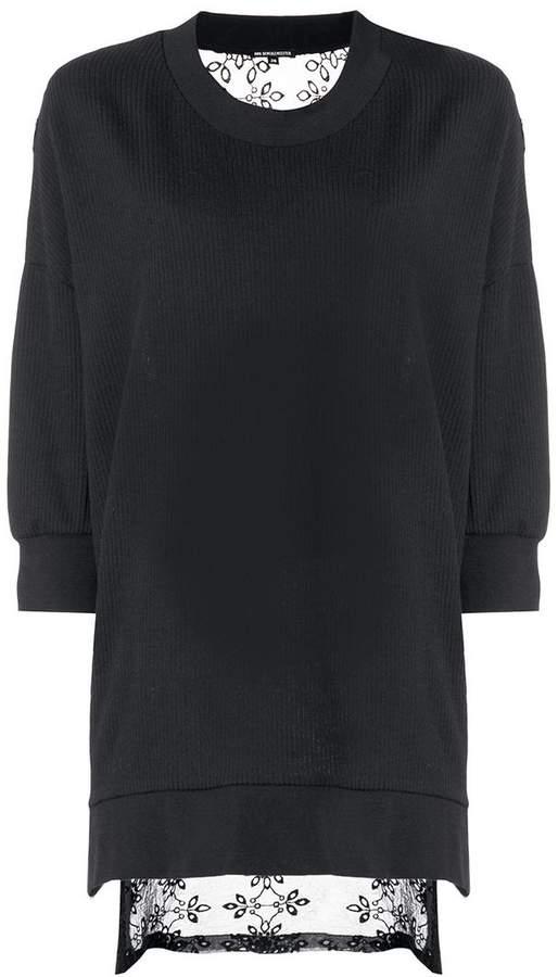 Ann Demeulemeester oversized sheer back sweatshirt