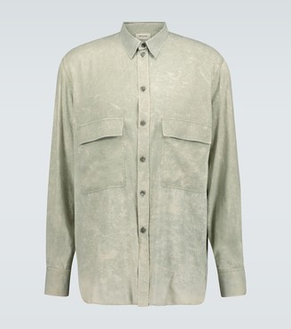 Rochas Quartilla long-sleeved silk shirt
