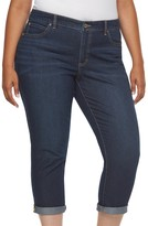 JLO by Jennifer Lopez Plus Size Roll Cuff Capri Jeans