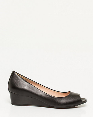 Le Château Leather Peep Toe Wedge