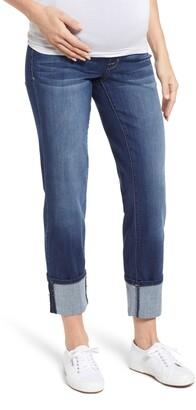 1822 Denim Cuff Straight Leg Maternity Jeans