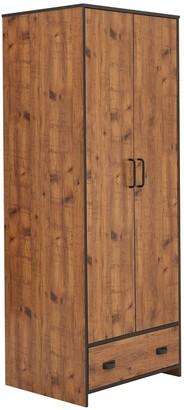 Jackson 4 Piece Package - Kids 2 Door, 1 Drawer Wardrobe, 2+2 Drawer Chest,2 Drawer Bedside Chest and Desk